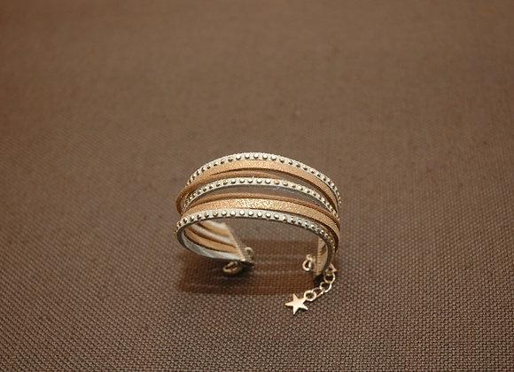 Bracelet Manchette Ines Gris