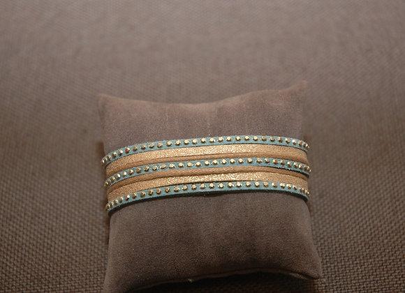 Bracelet Manchette Ines Bleu Nuit