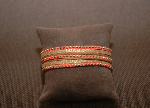 Bracelet Manchette Ines Corail