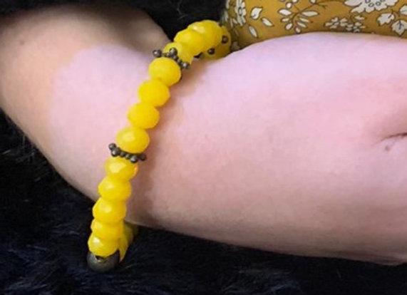 Bracelet Cristal Moutarde