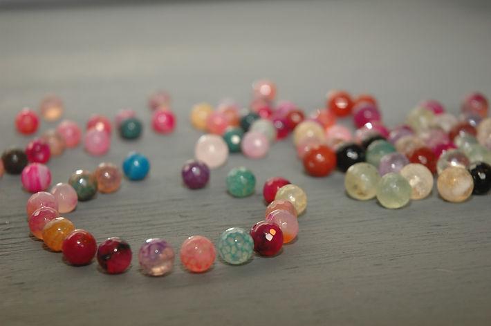 Agate, cristal, nacre, pierre semi précieuse