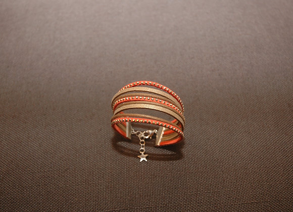 Bracelet Manchette Ines Orange