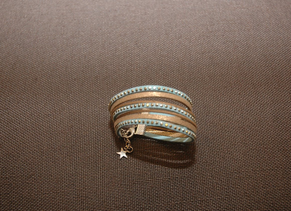 Bracelet Manchette Ines Turquoise