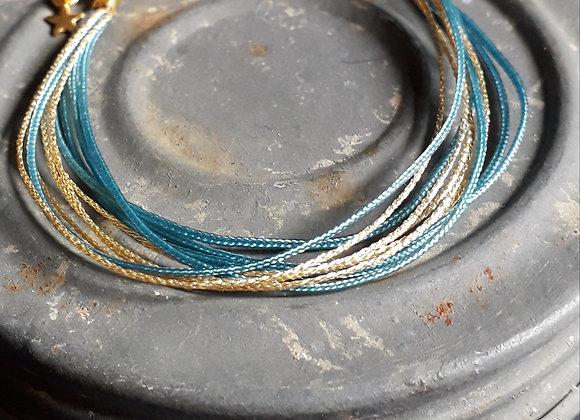 Bracelet Multiliens Vert Canard