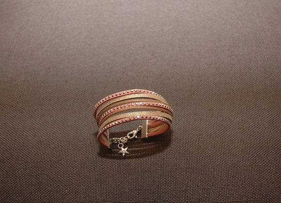 Bracelet Manchette Ines Bois de Rose