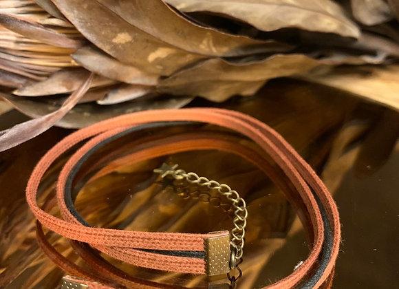 Bracelet Rouille et noir