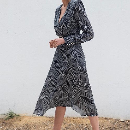 Kleid Schwarz /Weiß