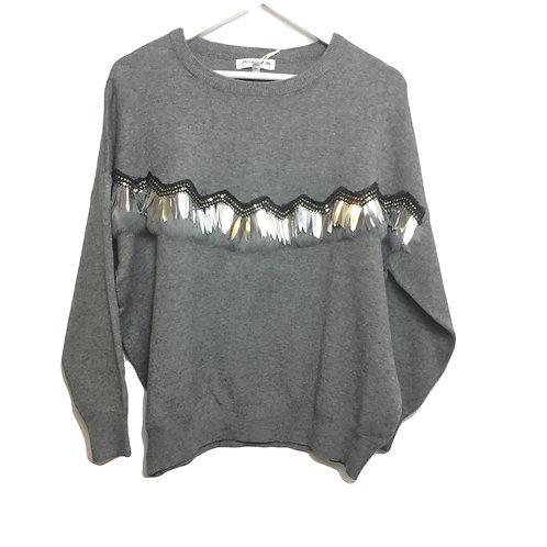 Pullover mit glänzendem Muster