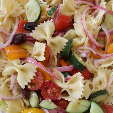Rainbow Pasta Salad (V)