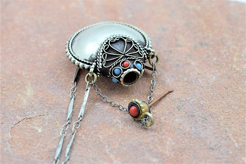 SILVER SNUFF BOTTLE NECKLACE