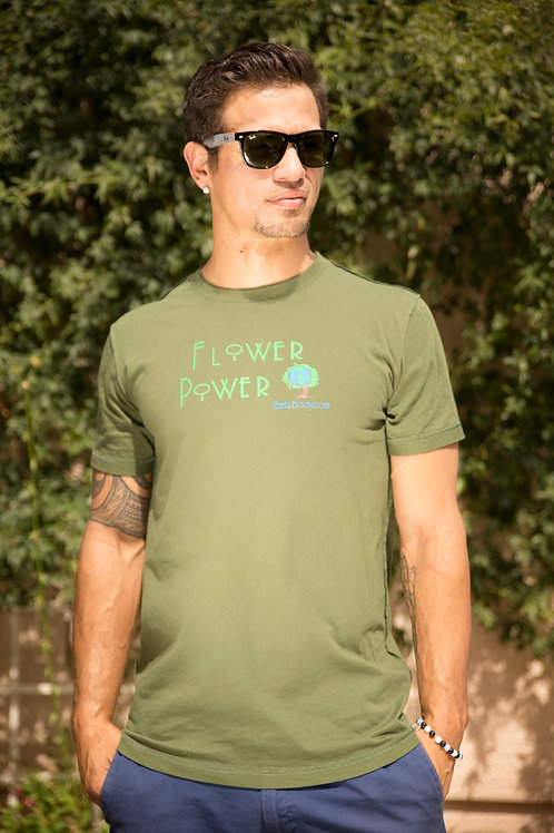 Mens Flower Power Tshirt