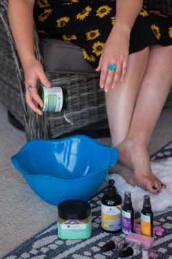 At home pedicure epsom foot soak