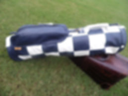 Leather checkerboard golf bag