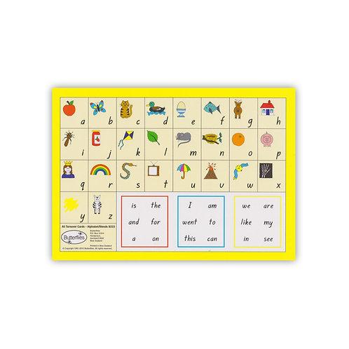 A5 Turnover Alphabet/Blends Cards - handwritten font (6 pack)