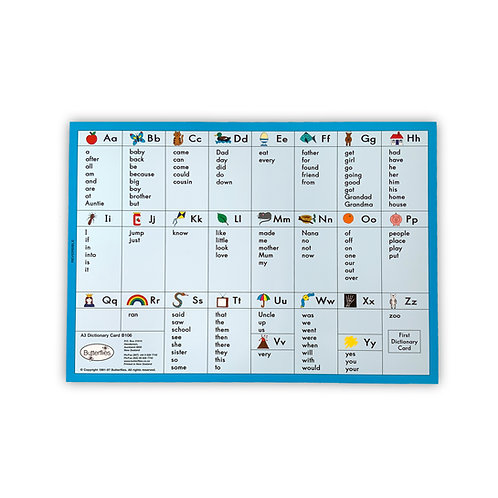 A3 Dictionary Card (reversible)