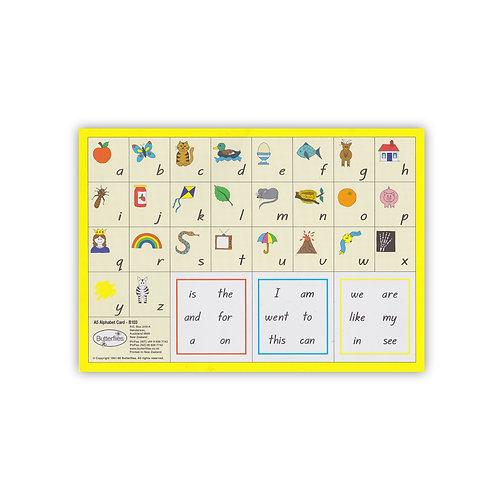 A5 Alphabet Cards - handwritten font (pack of 6)