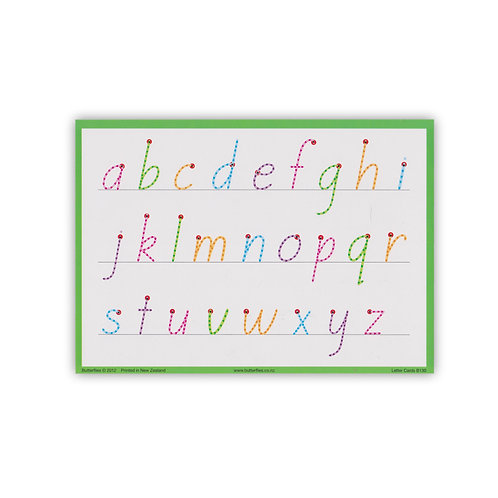 A5 Letter Cards (rounded k v w)