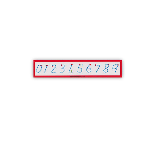 Numeral Strips (pack of 6)