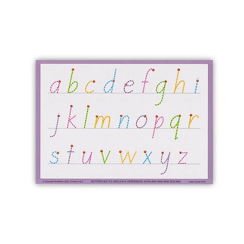 A5 Letter Cards (straight k v w)