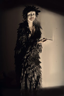"""In collaboration with photographer Gabriel Concuera who photographed series of photos based on Maya's dreams and performances. """"Conference meeting with E diminished"""" ."""