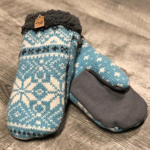 Adult Medium Sweater/Jean Mittens