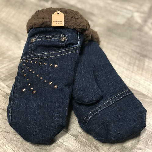 Adult Small Jean Mittens
