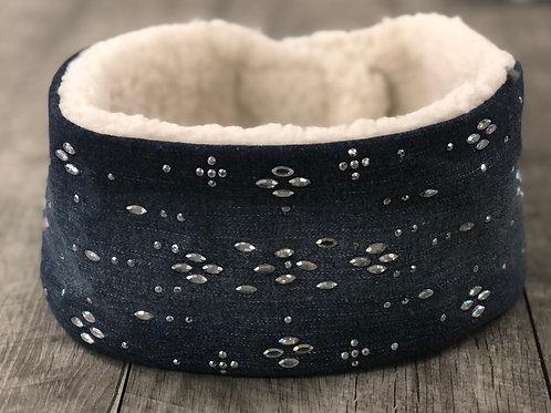 Adult Bling Denim Warmer Headband