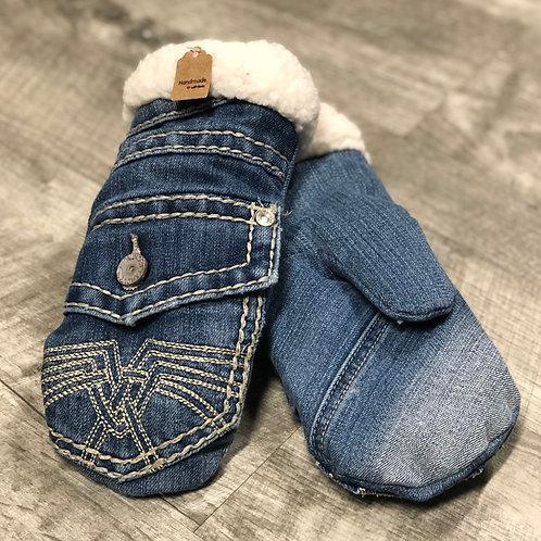 Adult Small Jean Mittens