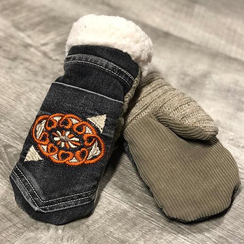 Adult Medium Jean/Sweater/Corduroy Mittens
