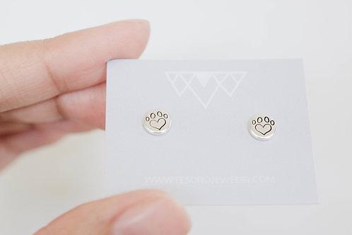 Heart Paw Earrings