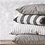 Thumbnail: 5 0 X 5 0  BEIGE & BLACK STRIPE CUSHION