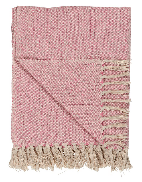 CREAM & PINK THROW