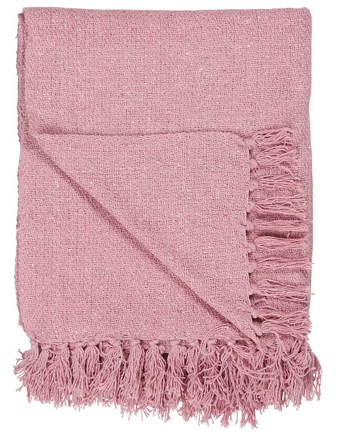 LIGHT PINK THROW