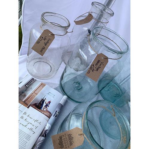SMALL CLEAR GLASS JAR