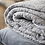 Thumbnail: WHITE & GREY STRIPE QUILT
