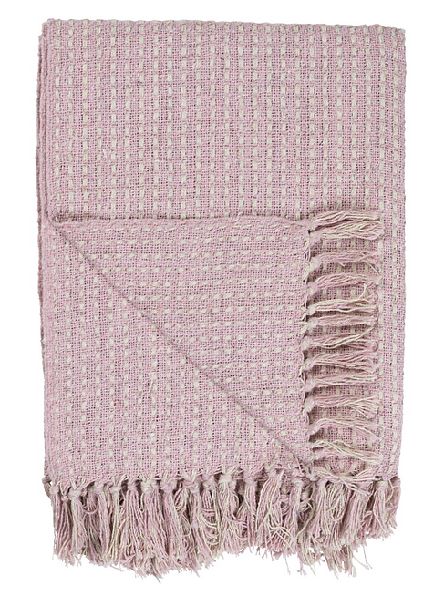 PATTERNED PINK THROW