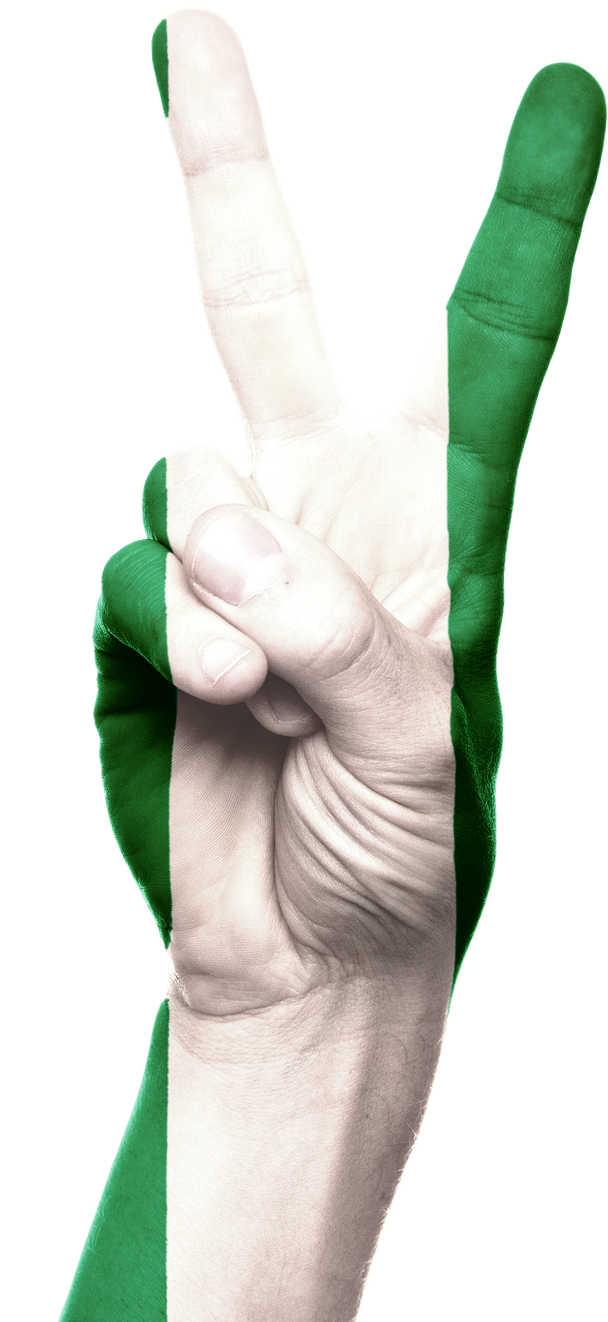 Nigerian Flag (Peace Sign; Pixabay)