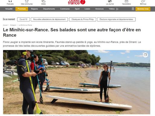 L'article du Ouest France met à l'honneur l'école Fauméa Stand Up Paddle & Yoga !