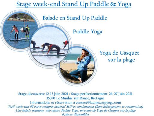 Stage week-end balade en SUP, Yoga de Gasquet et Paddle Yoga. Un week end pour se ressourcer!