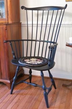 Comb-back armchair