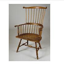 curly maple Phila comb-back armchair_edi