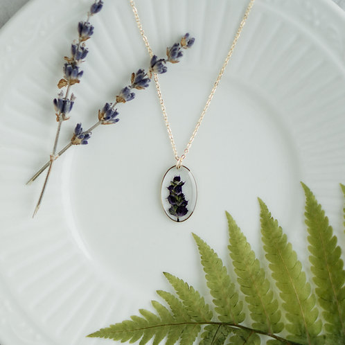 Gold Oval with Wildflower