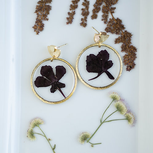 Real Flower with Sun Studs