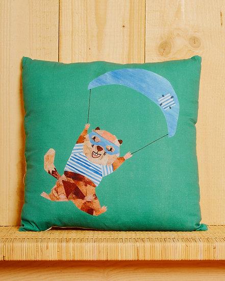 Parachuting Marmotte Cushion Cover