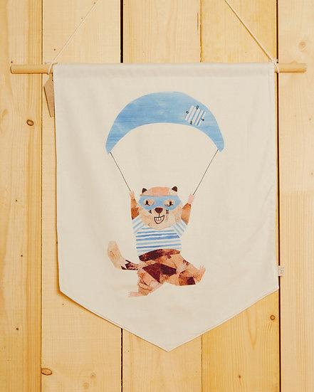 Parachuting Marmotte Wall Hanging
