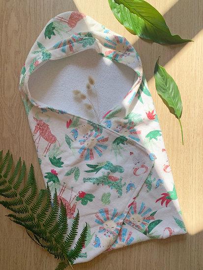 Baby Hooded Towel - Sophie's Safari