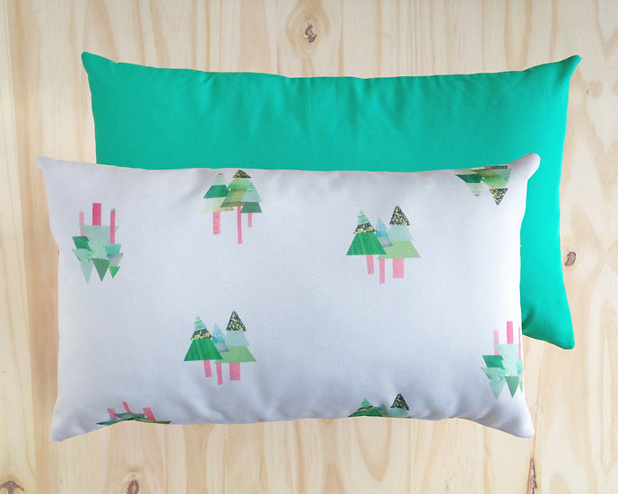 Tall Tall Trees Cushion Cover Green 30x50cm
