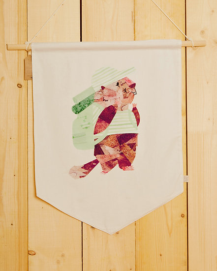Hiking Marmotte Wall Hanging