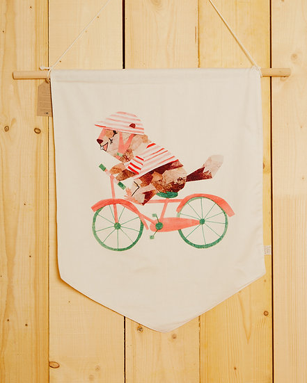 Cycling Marmotte Wall Hanging