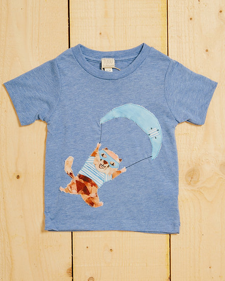 Parachuting Marmotte Appliqué T-shirt